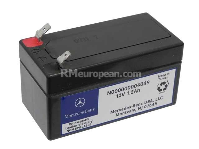 Mercedes benz genuine mercedes backup battery 12v 1 for Genuine mercedes benz battery