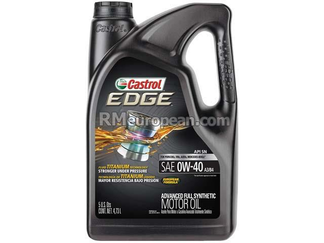 Volkswagen Engine Oil - Castrol Edge A3/B4 - 0W-40 Synthetic (5 Quart) CASTROL EDGE 03101C
