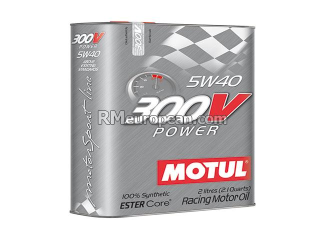 Engine Oil - MOTUL 300V Power - 5W-40 Synthetic (2 Liter) MOTUL 300V 104242