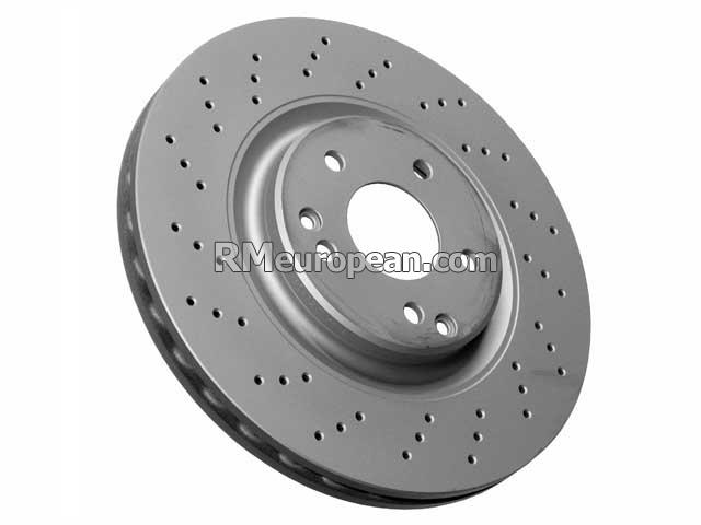 Mercedes-Benz Brake Disc - Vented and Cross Drilled (330 X 28 mm) ZIMMERMANN COAT Z 2034211312