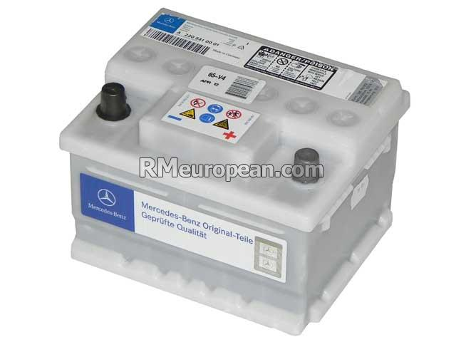 Mercedes benz genuine mercedes starter battery 12v for Genuine mercedes benz battery