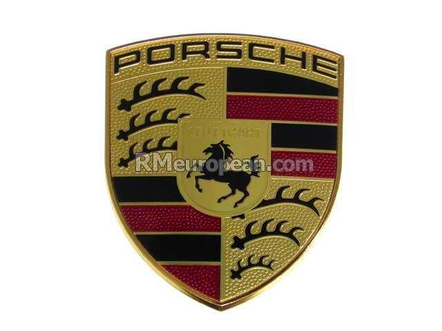 porsche boxster s convertible 981 3 4l h6 hood emblem. Black Bedroom Furniture Sets. Home Design Ideas