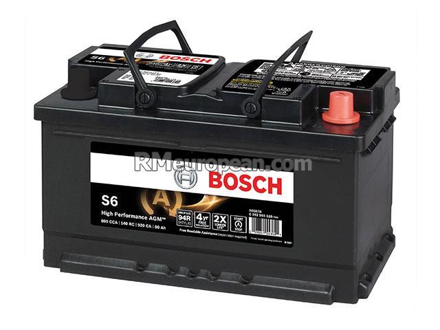 Volvo Bosch Battery Bosch S6 Agm High Performance S6587b