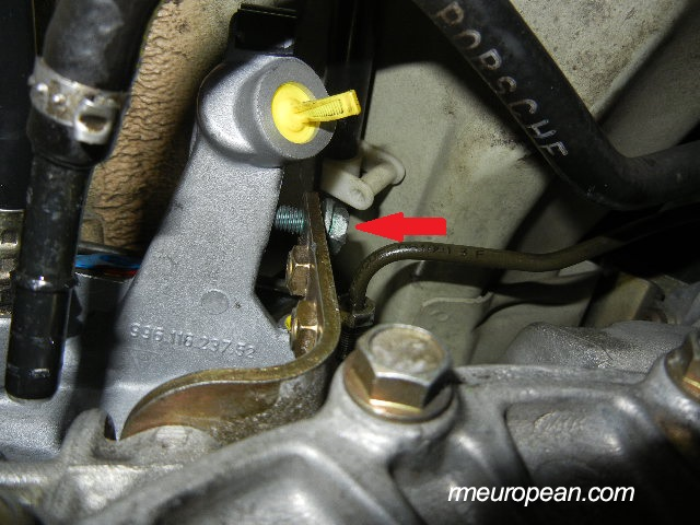 Porsche 996 Turbo Clutch Slave Cylinder Replacement - Installing the new clutch slave