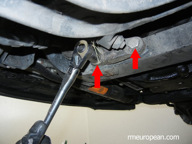 BMW E46 325xi Removing Inner Control Arm Ball Joint
