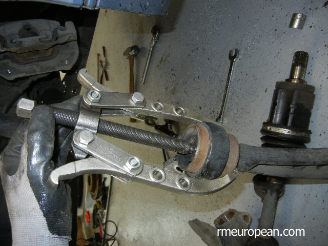 BMW E46 Removing Control Arm Bushing from Control Arm