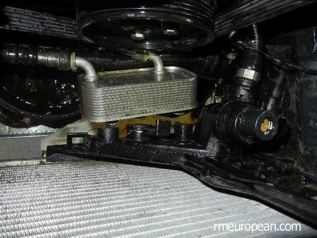 BMW E46 Cooling System Overhaul - Removing transmission oil cooler