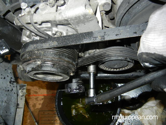 BMW E46 Cooling System Overhaul - Removing A/C Belt