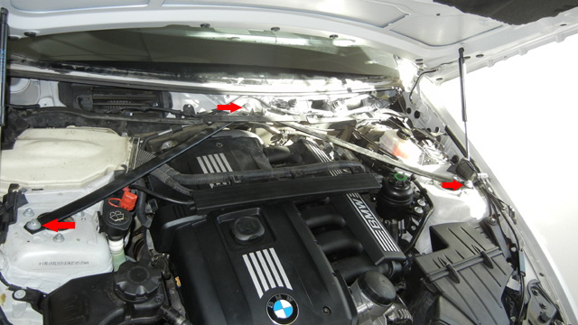 BMW E90 328xi Removing Strut Braces